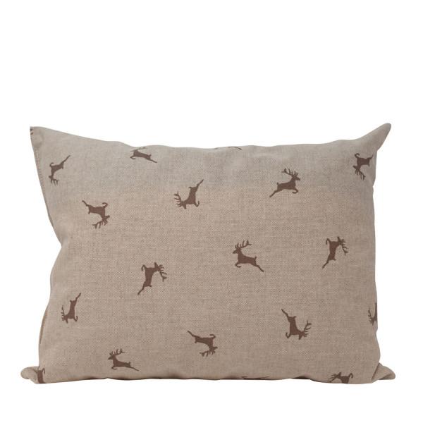 Zirbenkissen Hirsche beige/grau