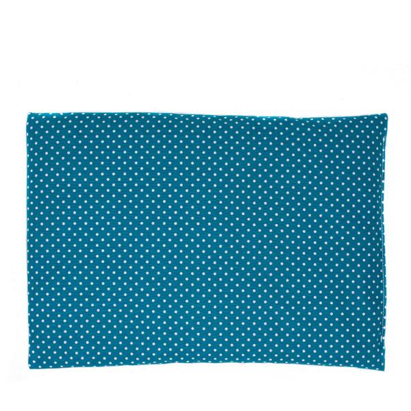 Dinkel Wärmekissen blau/weiß