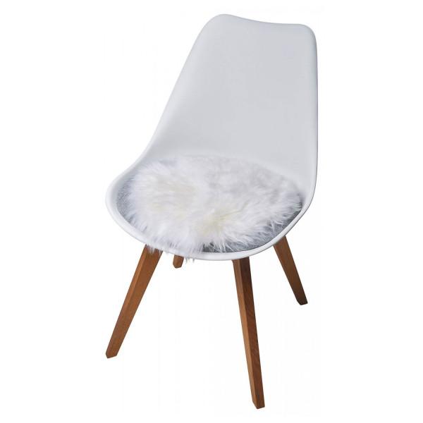 Lammfell Sitzauflage weiß