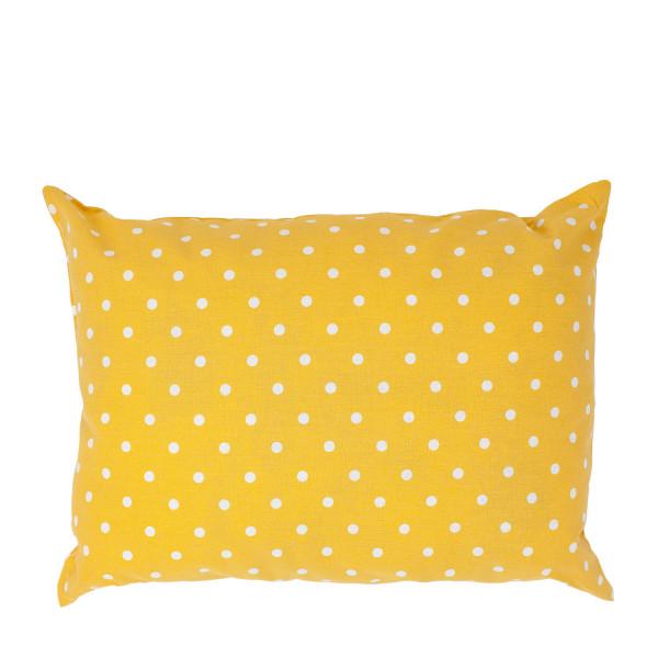"""""""Starke Nerven"""" Kissen gelb gepunktet groß"""