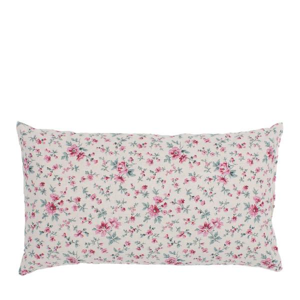 """""""Kopfschmerz"""" Kissen rosa Blumen klein"""