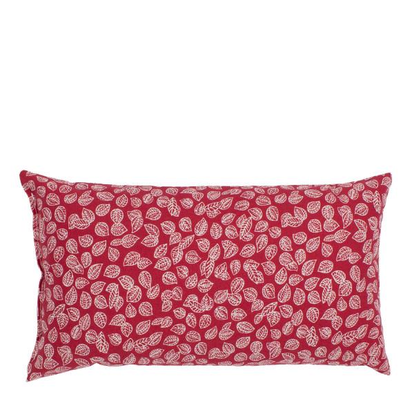 """""""Kopfschmerz"""" Kissen rot-weiße Blumen klein"""