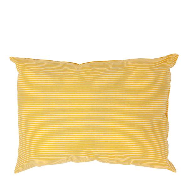 """""""Starke Nerven"""" Kissen gelb gestreift groß"""