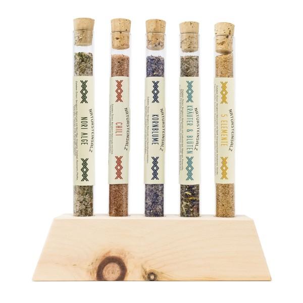 Salzaufsteller aus Zirbenholz