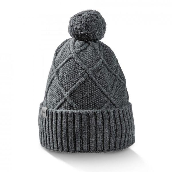 Merino Mütze mit Bommel