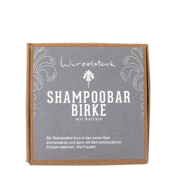 Shampoobar Birke mit Koffein