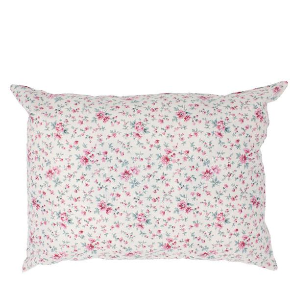 """""""Kopfschmerz"""" Kissen rosa Blumen groß"""