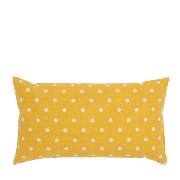 """""""Starke Nerven"""" Kissen gelb gepunktet klein"""