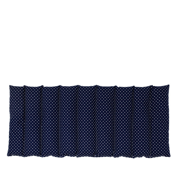 Traubenkern Wärmekissen abgesteppt blau/weiß