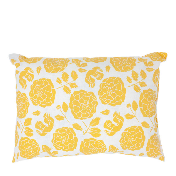 """""""Starke Nerven"""" Kissen gelbe Blumen groß"""