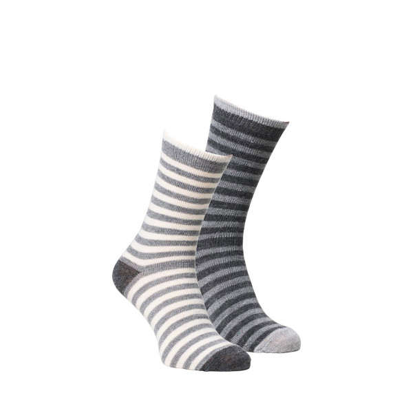 Alpaka Socken gestreift 2er Pack KINDER